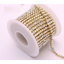 BANDE STRASS 4MM CRYSTAL AB A COUDRE