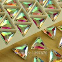 Strass à coudre 16mm TRIANGLE crystal AB
