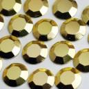 CLOU FACETTES HOT FIX 4 MM GOLD